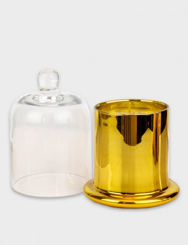 Cloche Gold Candle