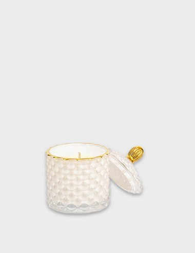 Geo Royal White Candle