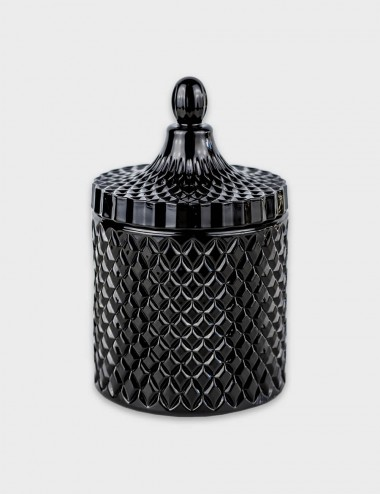 Geo Royal Black Candle