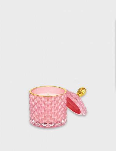 Geo Royal Pink Candle