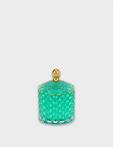 Geo Royal Teal Candle