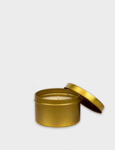 Travel Tins Gold Candle