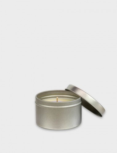 Travel Tins Silver Candle
